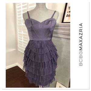 BCBG Max Azria Frosted Plum Cocktail Dress